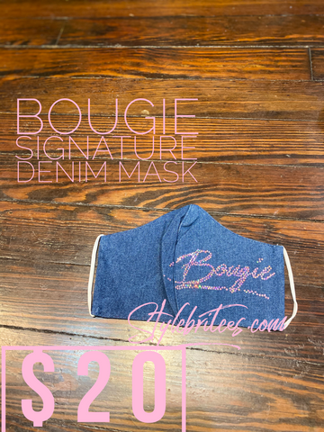Bougie Signature Denim Face Mask