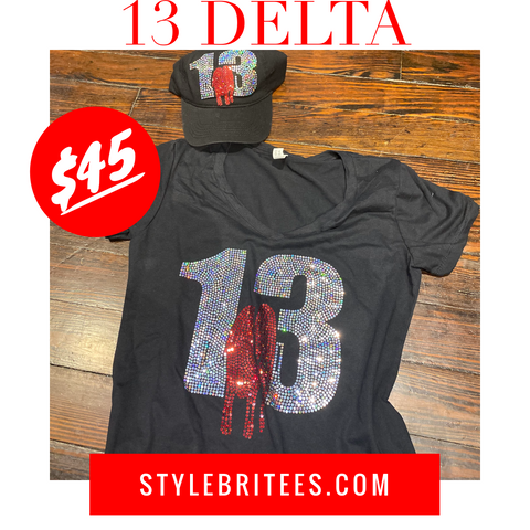 13 DELTA CAP & T-SHIRT SET