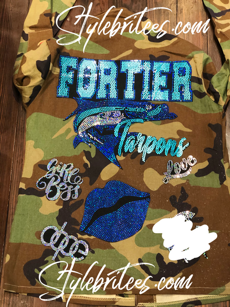FORTIER TARPONS Camouflage  Patchwork Jacket