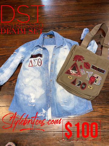 DST DISTRESSED DENIM SET