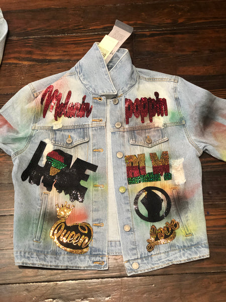 BLACK LIVES MATTER DENIM DISTRESSED JACKET