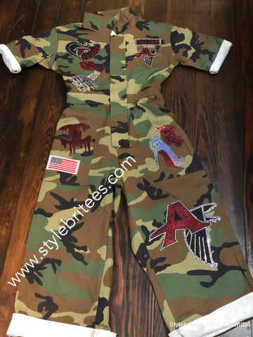 FALCONS Camouflage  Patchwork Romper