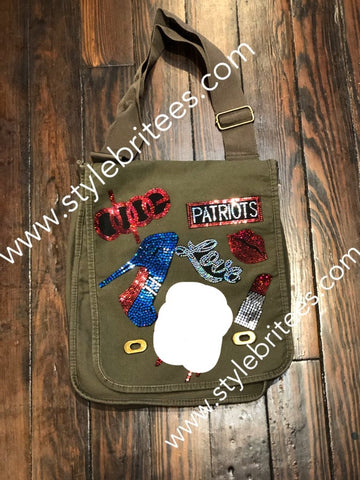 PATRIOTS BLING Patchwork CROSSBODY