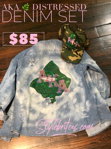 AKA DISTRESSED DENIM & CAP SET