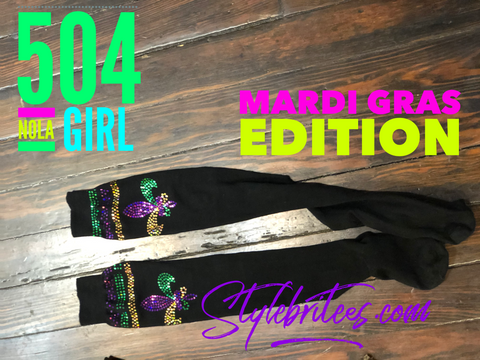 MARDI GRAS Thigh High Socks