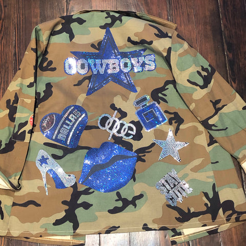 COWBOYS CAMOUFLAGE BLING Patchwork JACKET