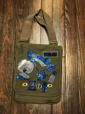 ZETA PHI BETA BLING Patchwork CROSSBODY