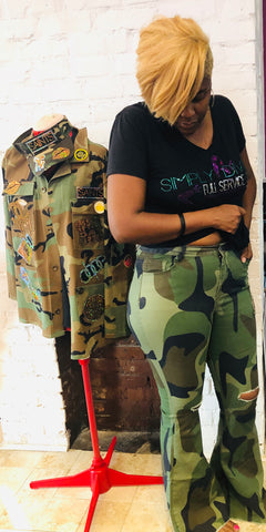STYLEBRITY CAMOUFLAGE FLARE JEANS