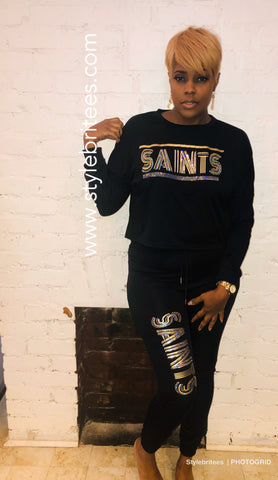 SAINTS Bling Jogging Suit