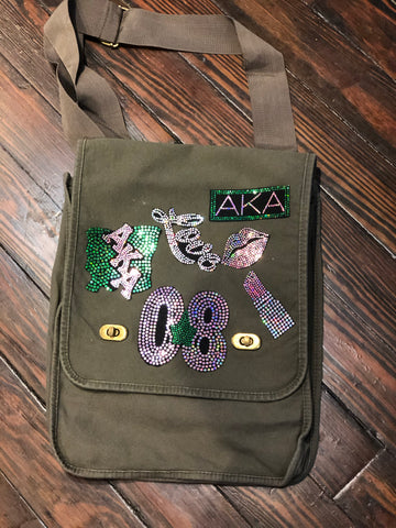 ALPHA KAPPA ALPHA Patchwork CROSSBODY