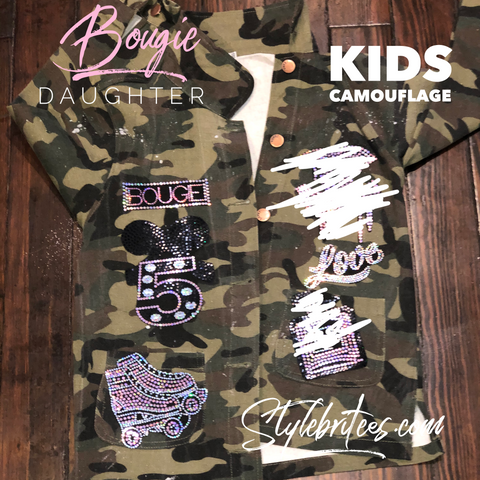 Bougie Daughter CAMOUFLAGE PATCHWORK JACKET KIDS