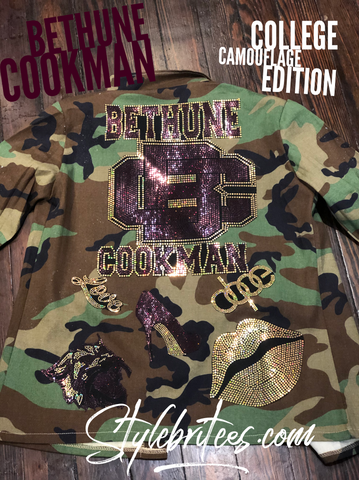 BETHUNE-COOKMAN CAMOUFLAGE BLING Patchwork JACKET
