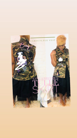 Bougie Camouflage  Patchwork VEST