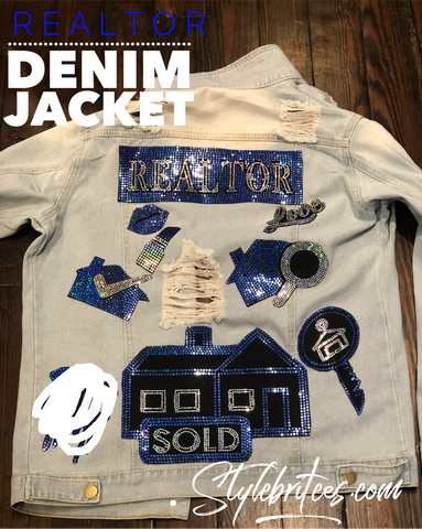 REALTOR DENIM  Patchwork JACKET