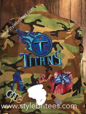 TITANS CAMOUFLAGE BLING Patchwork JACKET
