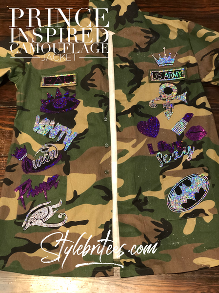 PRINCE CAMOUFLAGE BLING Patchwork VEST