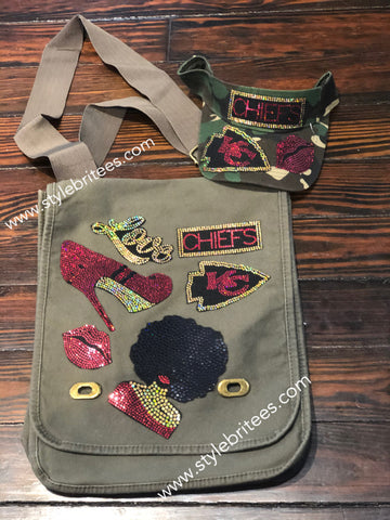CHIEFS BLING Patchwork CROSSBODY