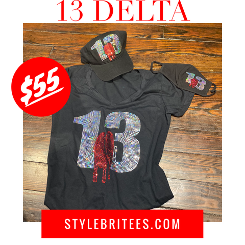 13 DELTA CAP MASK & T-SHIRT SET