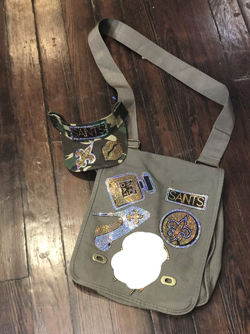 SAINTS BLING Patchwork CROSSBODY