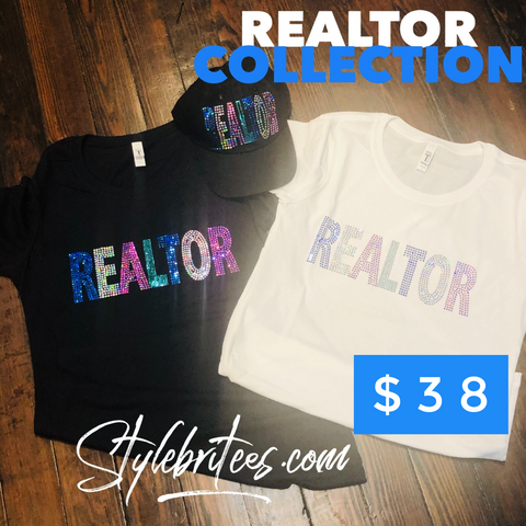 Realtor BLING T-SHIRT &  CAP