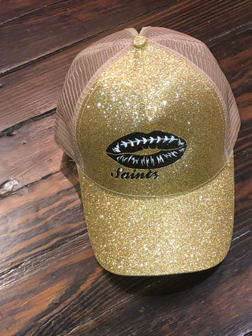 SAINTS GLITTER Lips CAP