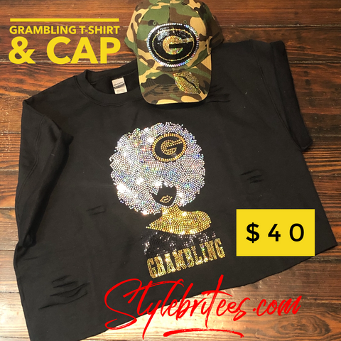 Grambling Tigers BLING T-SHIRT &  CAP