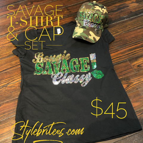 SAVAGE BLING T-SHIRT &  CAP