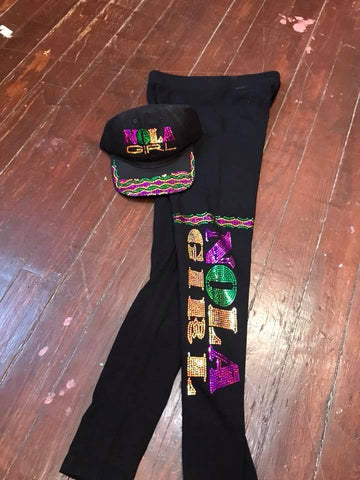 NOLA GIRL MARDI GRAS LEGGINGS