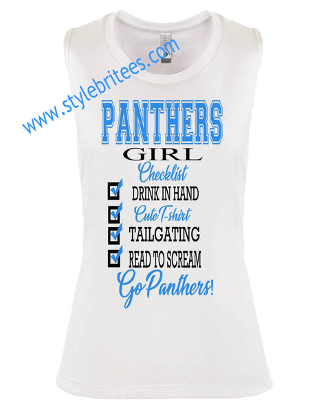 PANTHERS GIRL CHECKLIST