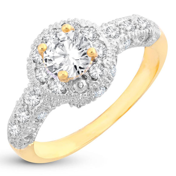 Exclusive Solitaire Gold Plated Ring For Women
