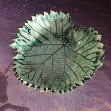 Load image into Gallery viewer, Ceramic Leaf bowl, Leaf dish, ceramic spoon rest, grape leaf bowl, Teabag holder, Ring dish, Jewelry dish, Soap dish, Candle holder, grape