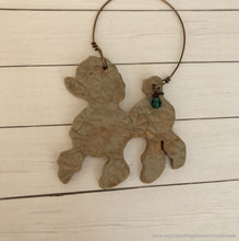 Load image into Gallery viewer, Poodle, Butterscotch caramel ceramic poodle ornament, Poodle ornament, poodle Christmas ornament, Ceramic poodle, poodle wall art decor