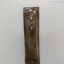 Load image into Gallery viewer, Ceramic mezuzah case, brown ceramic mezuzah case, handmade mezuzah case, Jewish home gifts, Jewish home blessing, Jewish Mothers Day