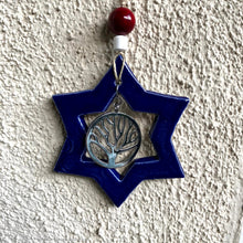 Load image into Gallery viewer, Star Of David wall art, ceramic Star of David, Magen David, Star of David ornament, Tree of life, Jewish house warming gift, housewarming