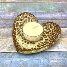 Load image into Gallery viewer, handmade ceramic jewelry dish ceramic vanity night table handmade heart shaped ring dish teabag holder tealight candle holder clay soap dish