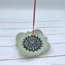 Load image into Gallery viewer, ceramic incense stick holder, ceramic incense stick burner, ceramic dish incense burner, heart shaped aromatherapy gift, joss stick burner