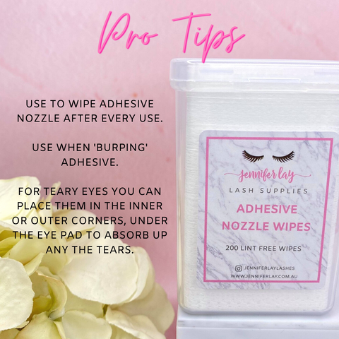 adhesive nozzle wipe tips