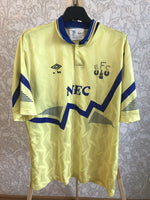 Load image into Gallery viewer, FC Everton 1990/1991/1992 Away Size L Umbro jersey