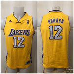 Load image into Gallery viewer, Kids Los Angeles Lakers #12 Dwight Howard Size L Adidas jersey