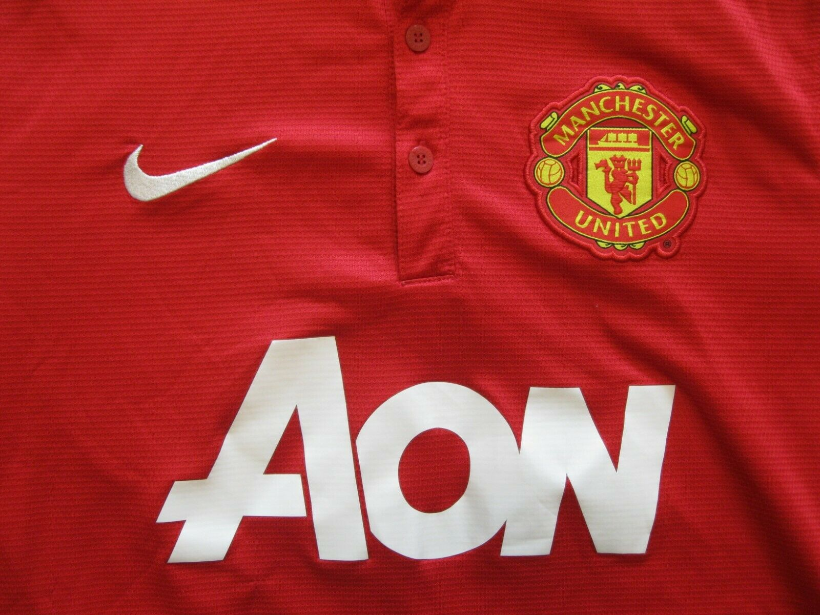 Manchester United 2013/2014 Home Size S jersey Nike 532837-624