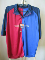 Load image into Gallery viewer, FC Barcelona 1999/2000 Home 100 years Size XL Nike shirt jersey Barca