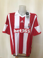 Load image into Gallery viewer, Stoke City 2013/2014 home 2XL Adidas F40590 jersey