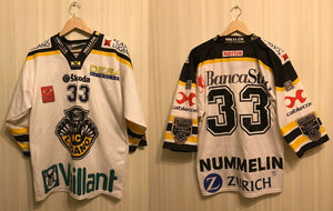 HC Lugano #33 Nummelin Size XS InterHockey Ice Hockey jersey