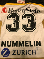 Load image into Gallery viewer, HC Lugano #33 Nummelin Size XS InterHockey Ice Hockey jersey