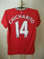 Load image into Gallery viewer, Manchester United #14 Chicharito 2011/2012 Home Size S jersey Nike 423956-623