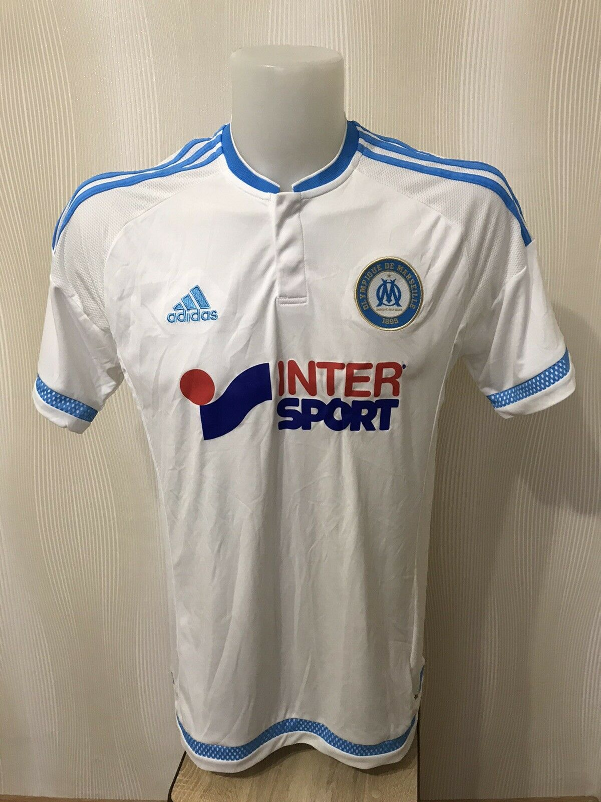 Olympique Marseille 2015/2016 Home Size L Adidas jersey