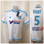 Load image into Gallery viewer, Olympique Marseille #5 Diaby 2015/2016 Home Size L Adidas S11891 jersey