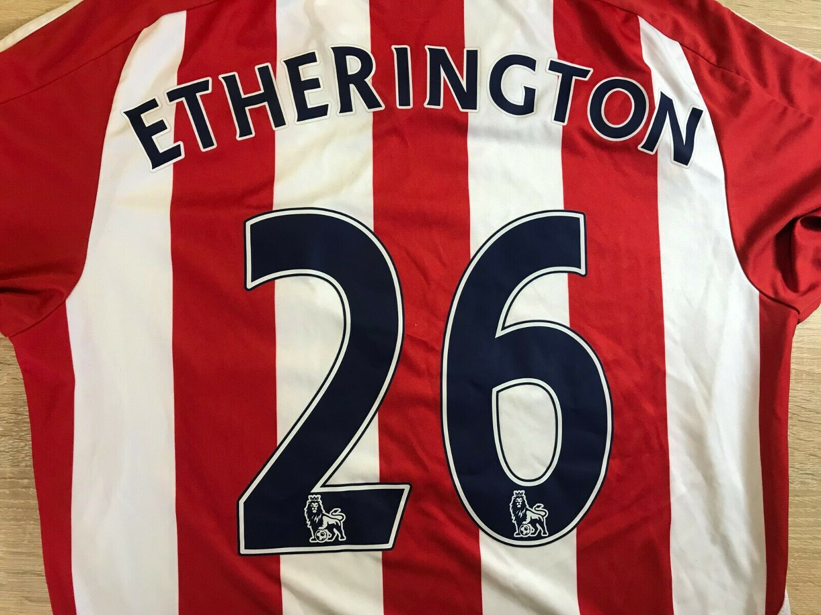 FC Stoke City #26 Etherington 2011/2012 home Size M Adidas O56556 jersey