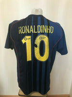 Load image into Gallery viewer, FC Barcelona #10 Ronaldino 2004/2005 away Size XL Nike jersey