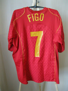 Portugal team #7 Figo 2004/2006 Home Size XL Nike jersey
